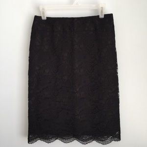 Banana Republic Factory Black Lace Skirt